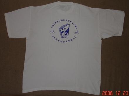 Kéktúrás póló - hátul